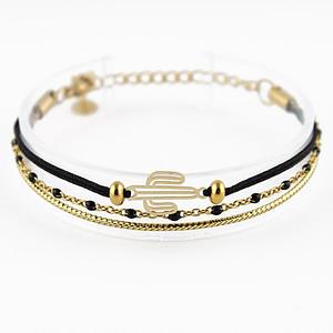 bracelet Arizona doré noir