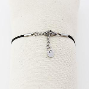 bracelet fermoir cordon argenté