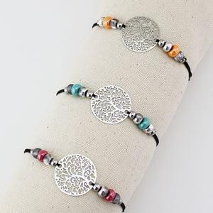 bracelet argenté Flores