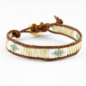 bracelet wrap Inca par Delina