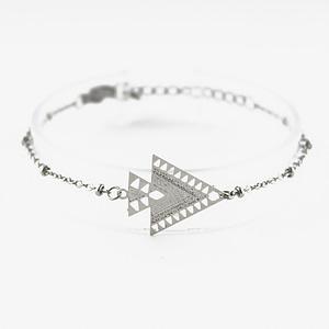 bracelet chainette kheops argentée