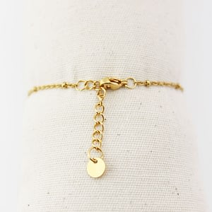 bracelet femme fermoir chainette dorée
