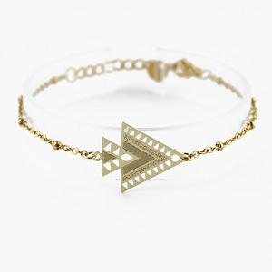 bracelet chainette kheops dorée